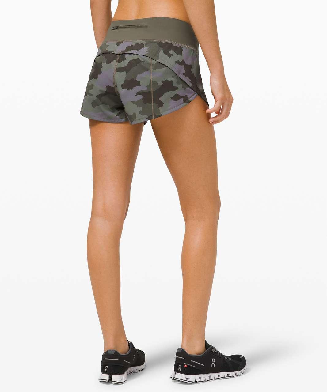 "Lululemon Speed Up Short *2.5"" - Heritage 365 Camo Dusky Lavender Multi / Army Green"