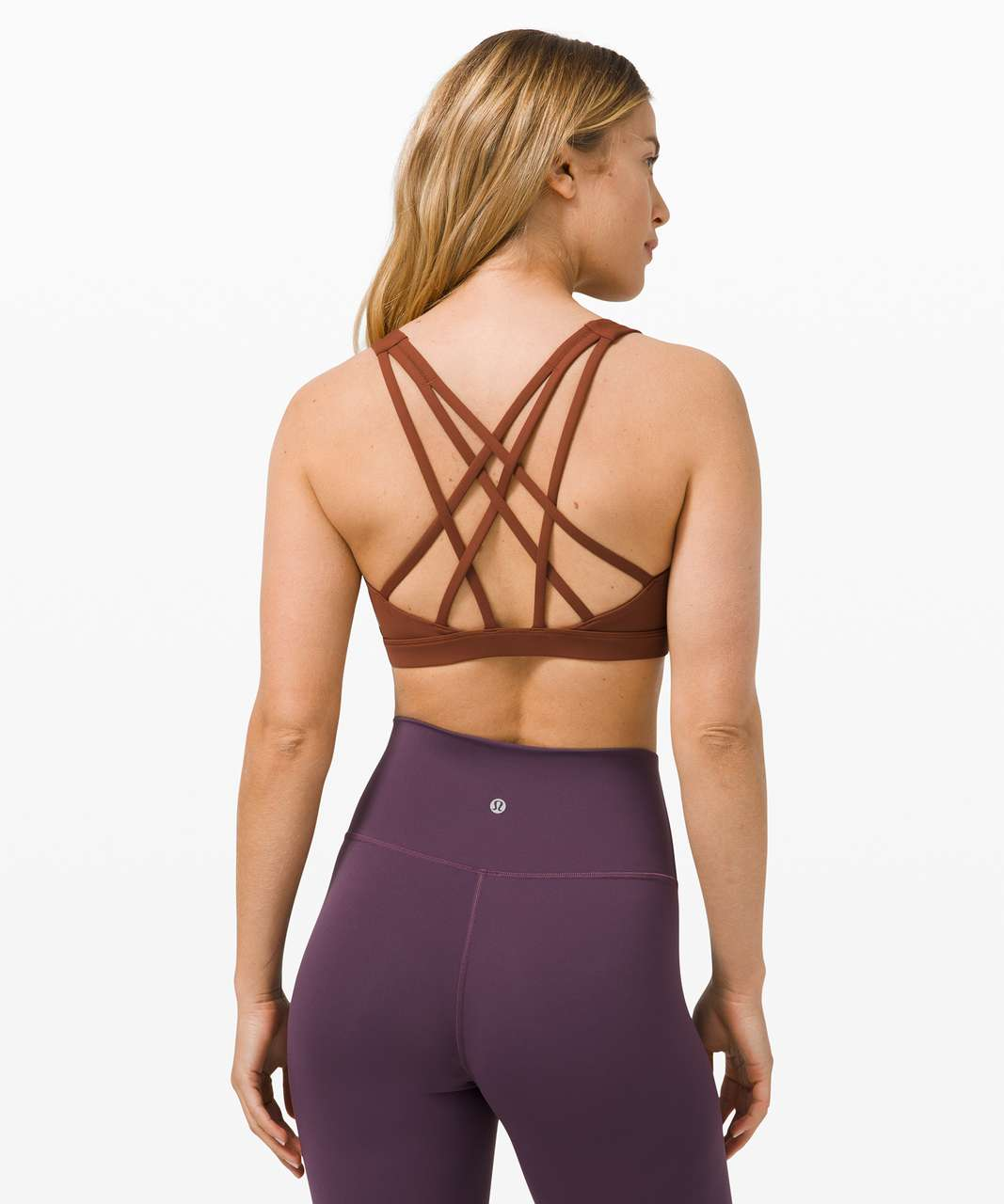 Lululemon Free To Be Serene Bra *Light Support, C/D Cup - Dark Terracotta