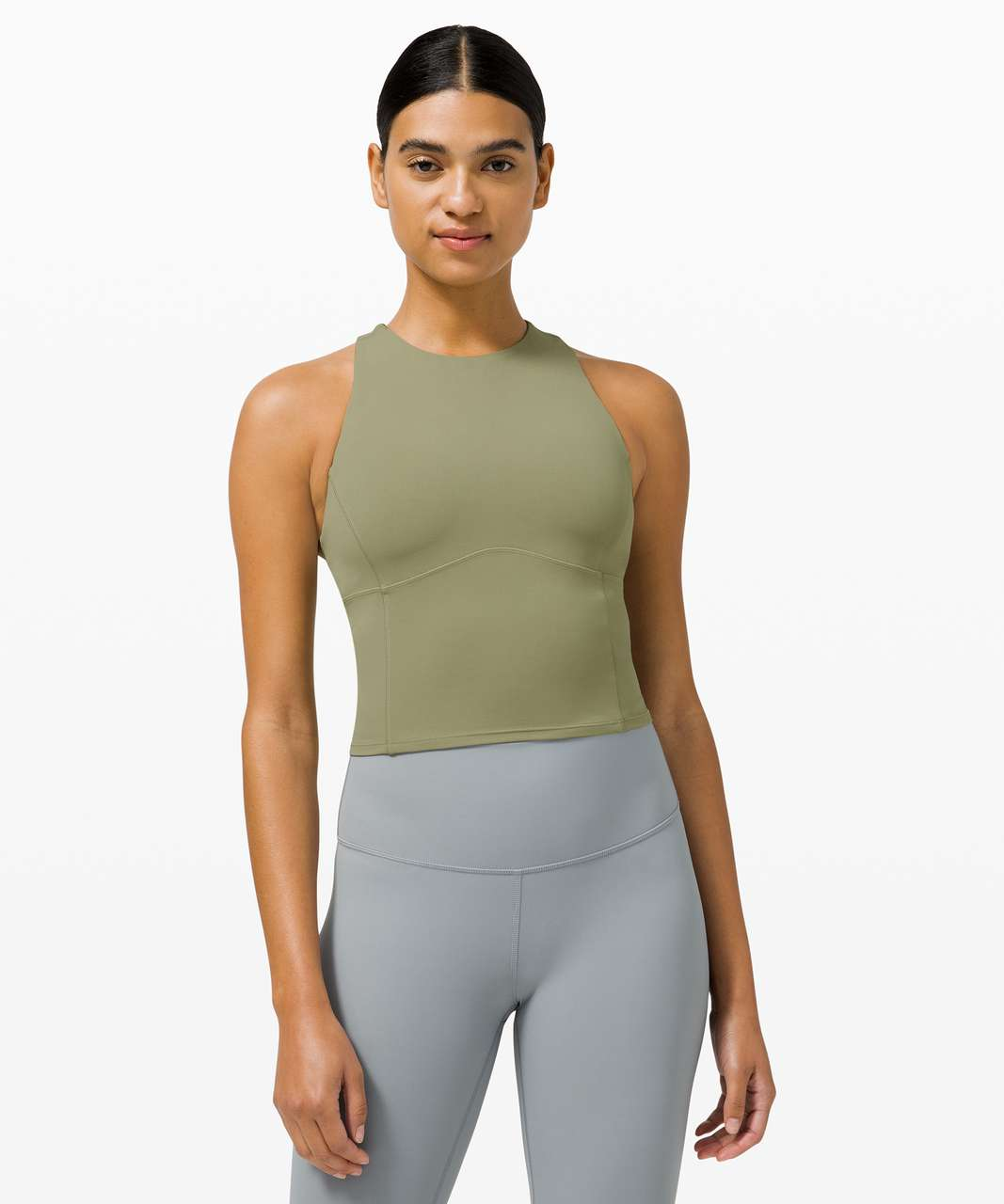 Lululemon Key to Balance Tank - Rosemary Green