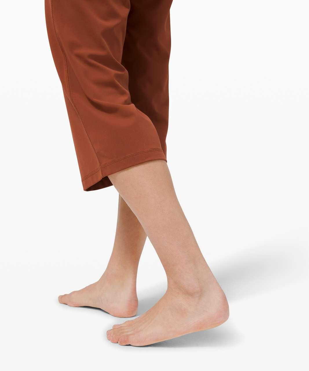 "Lululemon Align Wide Leg Super-High-Rise Crop *23"" - Dark Terracotta"