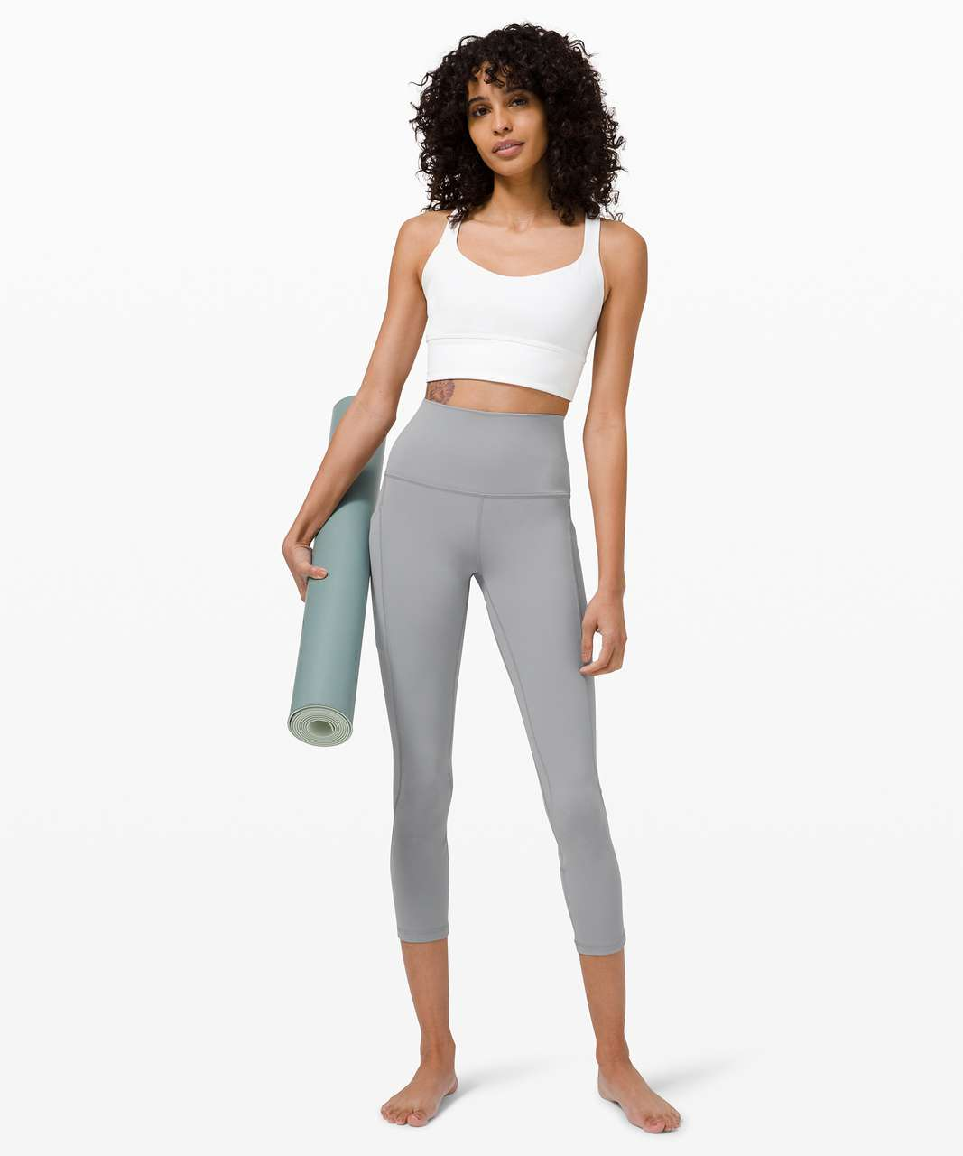"Lululemon Align High Rise Crop with Pockets 23"" - Rhino Grey"