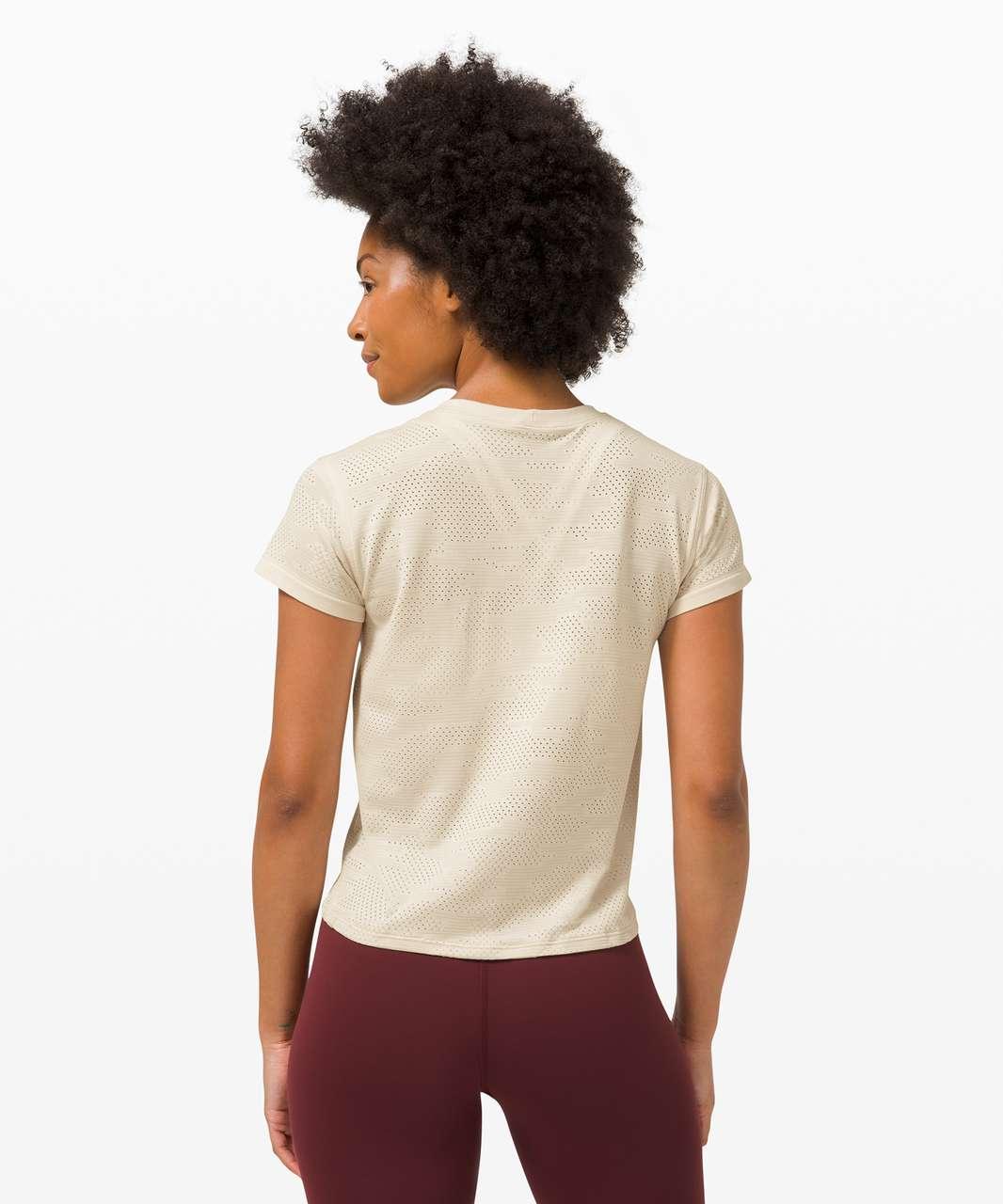 Lululemon Train to Be Short Sleeve *Camo - Dot Camo White Opal