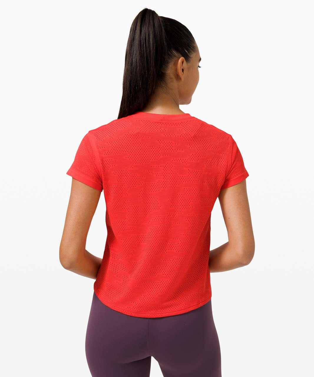 Lululemon Train to Be Short Sleeve *Camo - Dot Camo Pink Punch