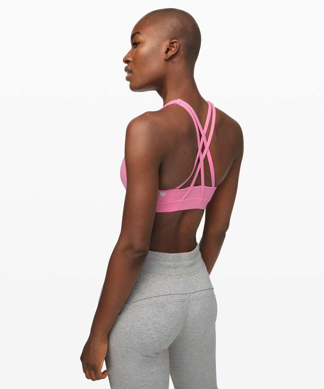 Lululemon Energy Bra High Neck *Medium Support, B-D Cup - Cosmic Pink