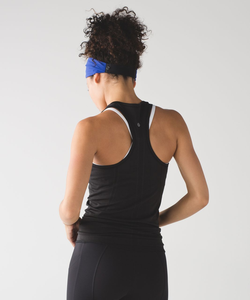 Lululemon Fringe Fighter Headband - Sapphire Blue / Black / Heathered Black