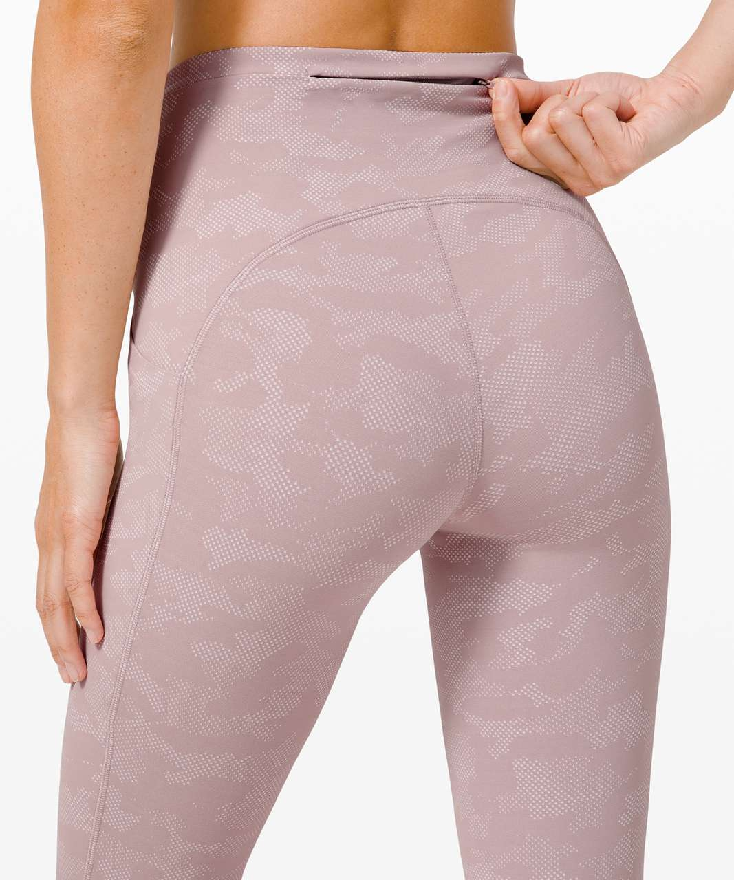 "Lululemon Swift Speed High-Rise Tight 28"" - Heritage Camo Jacquard Silky White"