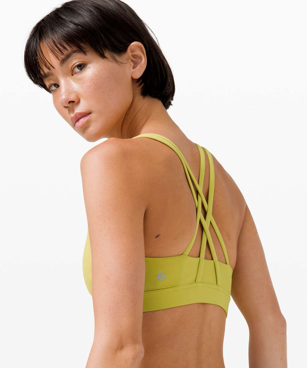 Lululemon Energy Bra *Medium Support, B–D Cup - Yellow Pear