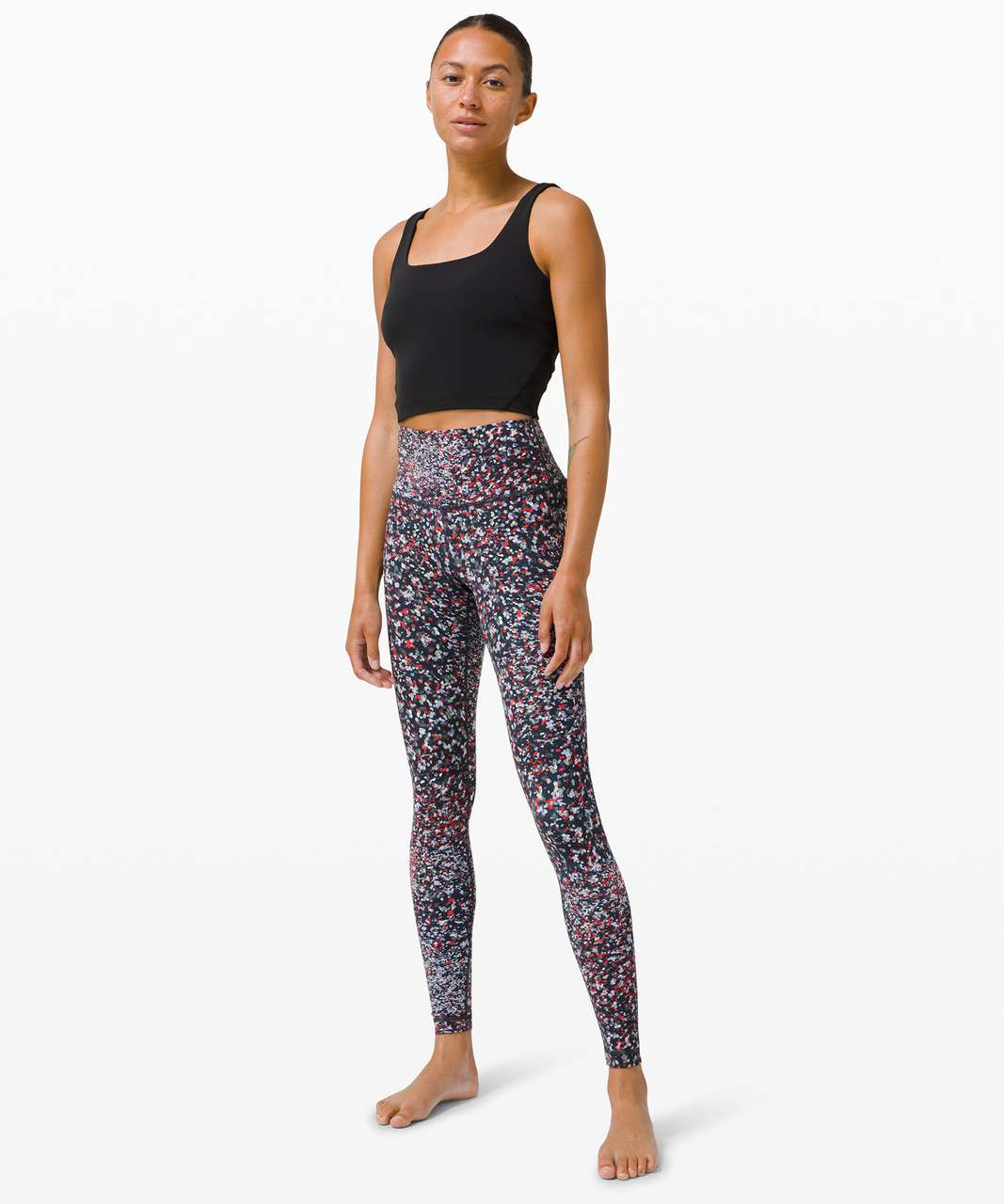 """Lululemon Wunder Under High-Rise Tight 28"""" *Luxtreme - Water Blossom Multi"""