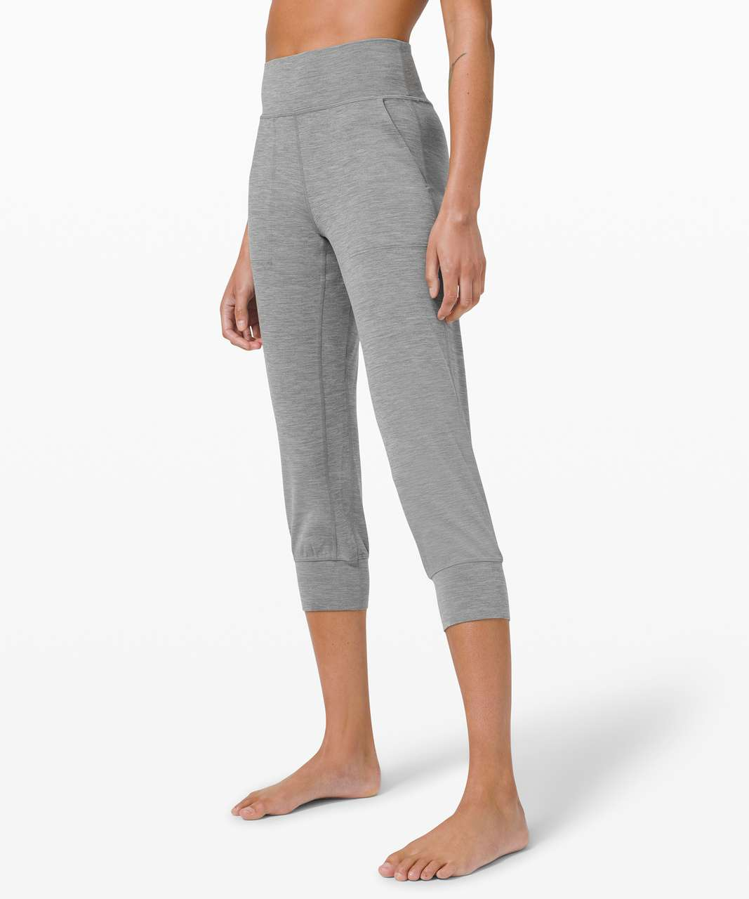 "Lululemon Align Jogger Crop *23"" - Heathered Core Medium Grey"
