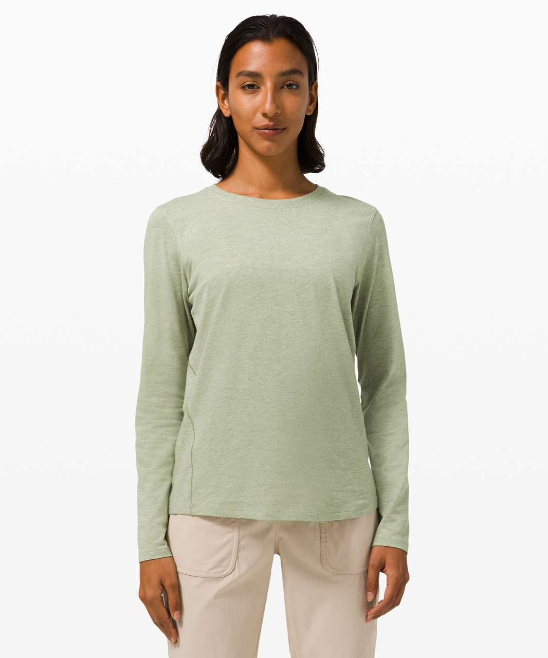 Lululemon Ever Ready Long Sleeve - Heathered Rosemary Green