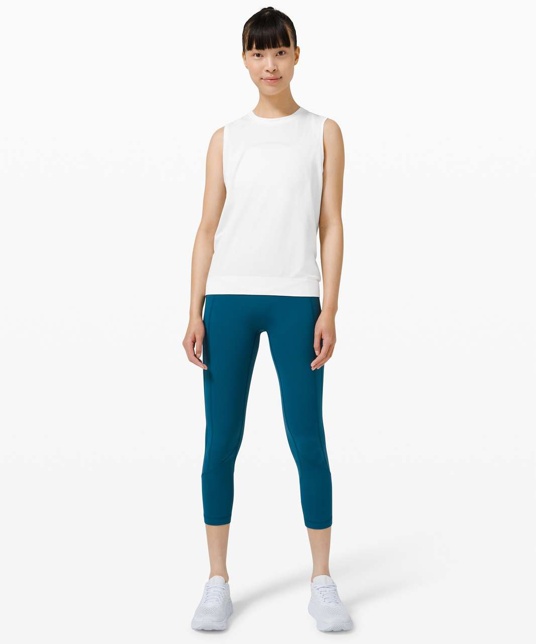 Lululemon Swiftly Breathe Muscle Tank Top - White / White