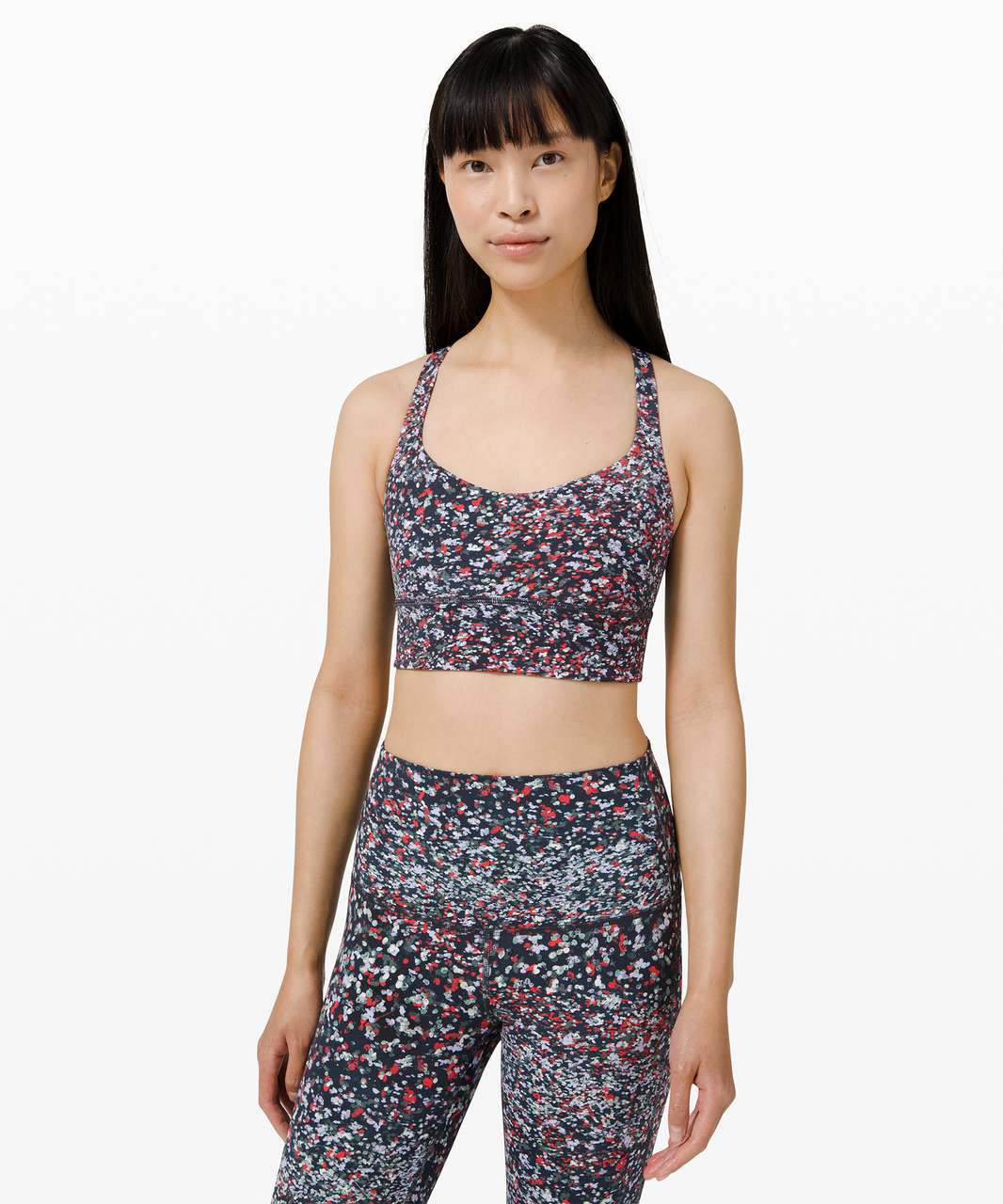 Lululemon Free to Be Long-Line Bra - Wild *Light Support, A/B Cups - Water Blossom Multi