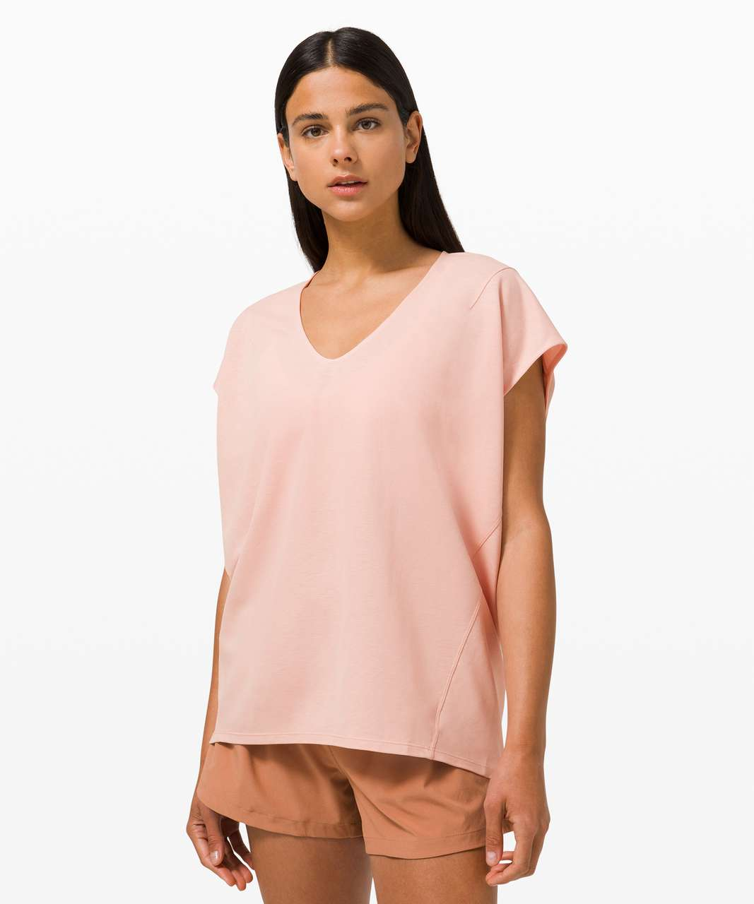 Lululemon Capped Short Sleeve Tee - Pink Mist