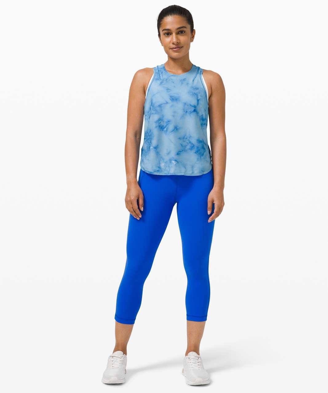 Lululemon Lightweight Run Kit Tank Top - Tidal Dye Vapor Hawaiian Blue