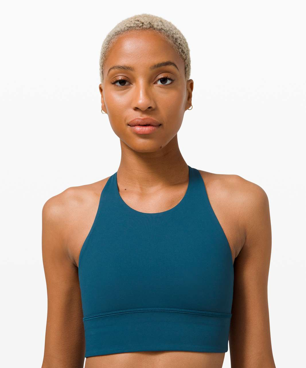 Lululemon Free to Be High-Neck Long-Line Bra - Wild *Light Support, A/B Cups - Blue Borealis / Pink Mist