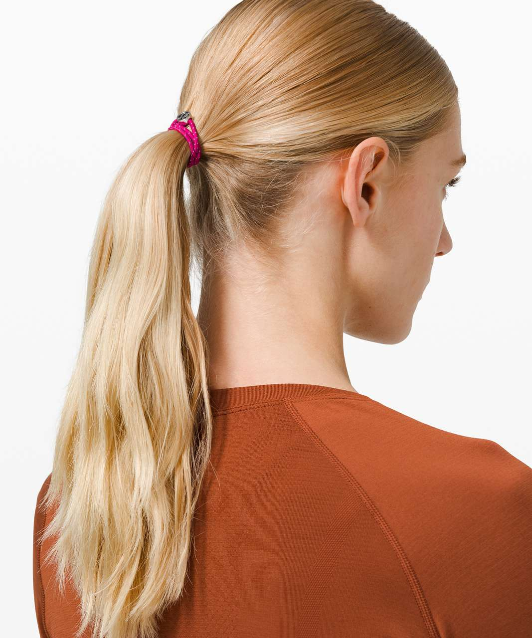 Lululemon Glow On Hair Ties - Yellow Pear / Rosemary Green / Ripened Raspberry