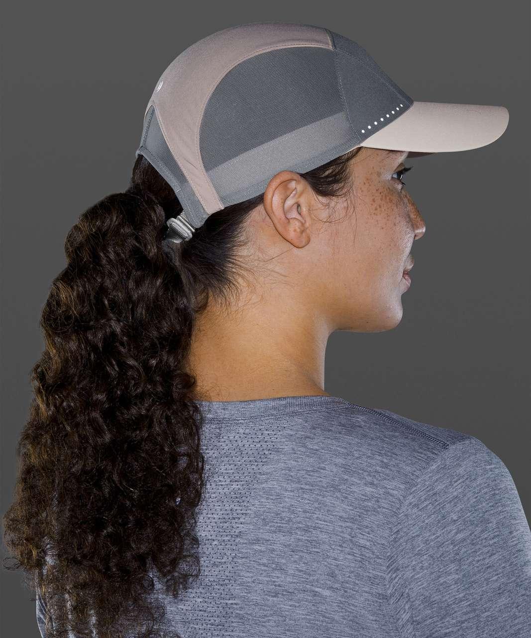 Lululemon Fast and Free Womens Run Hat Elite - Cafe Au Lait / Rhino Grey / White Opal