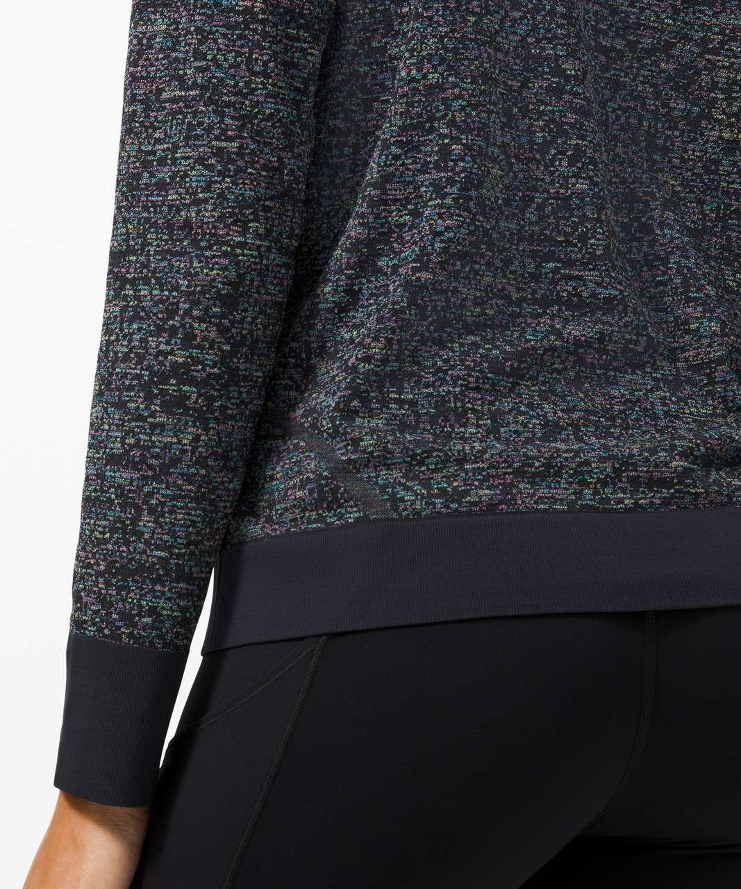 Lululemon Swiftly Breathe Long Sleeve - Pixel Check Black / Highlight Multi