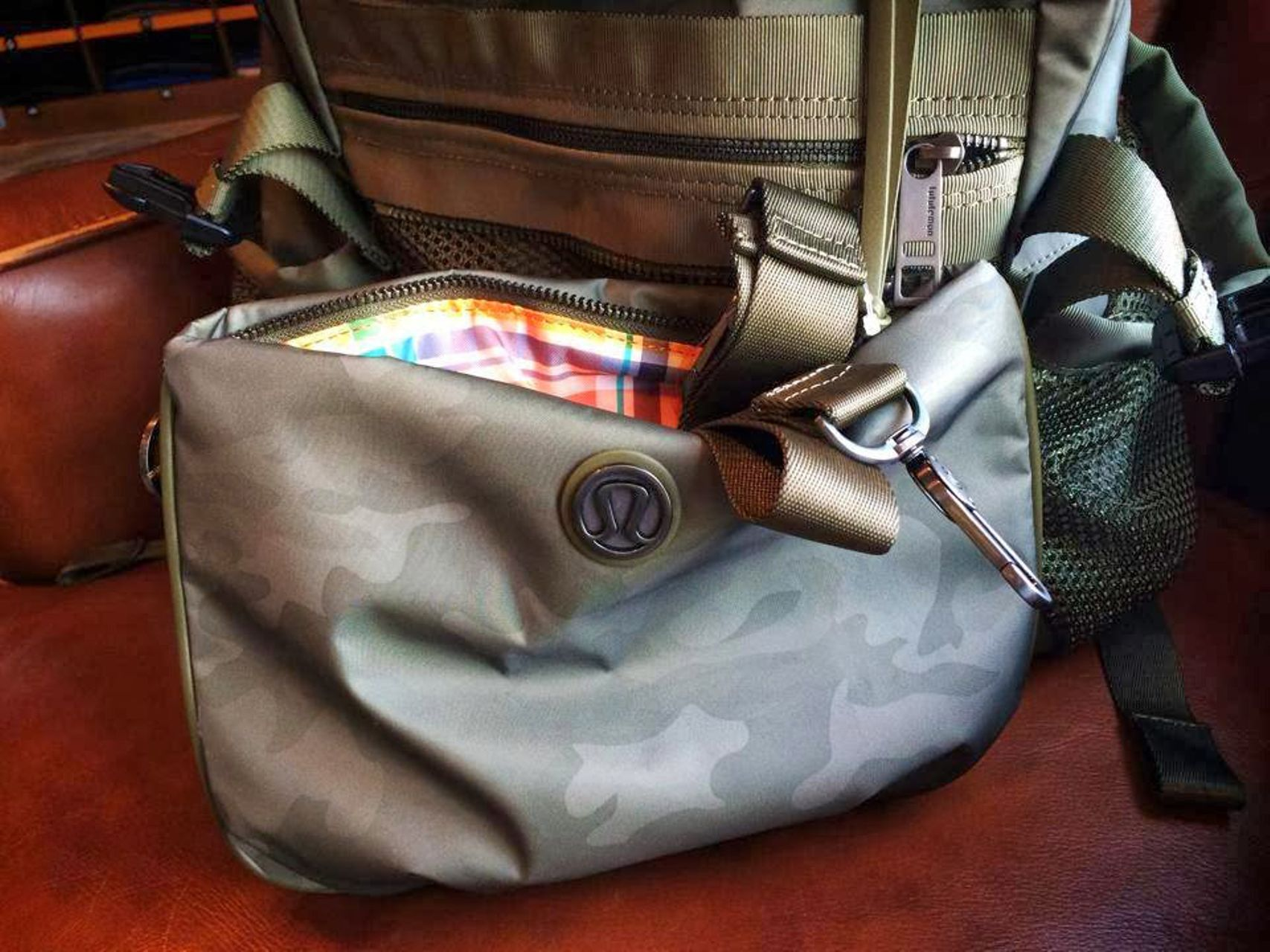 Lululemon Traveling Yogini Rucksack - Savasana Camo Fatigue Green