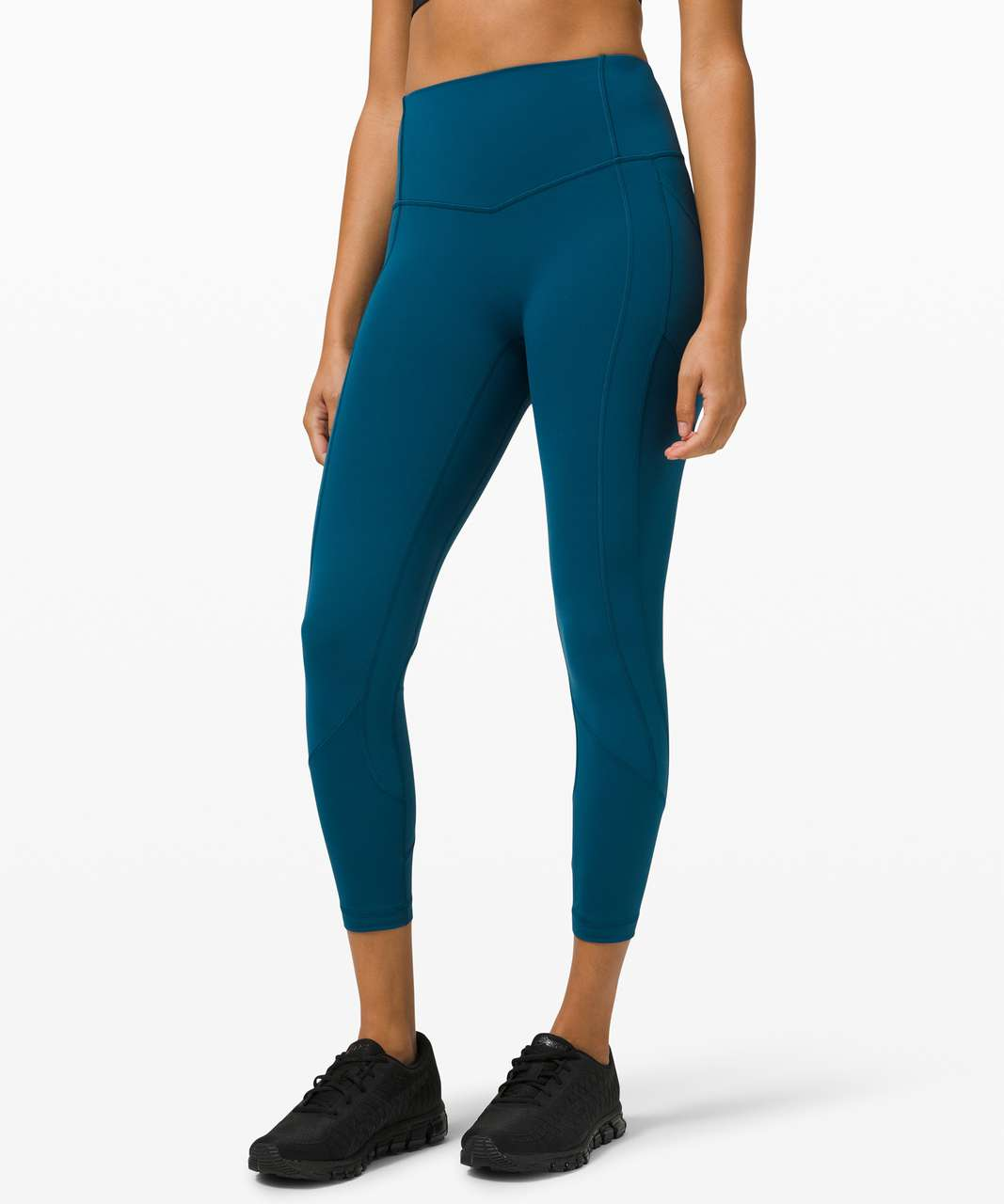 """Lululemon All The Right Places Crop *23"""" - Blue Borealis"""