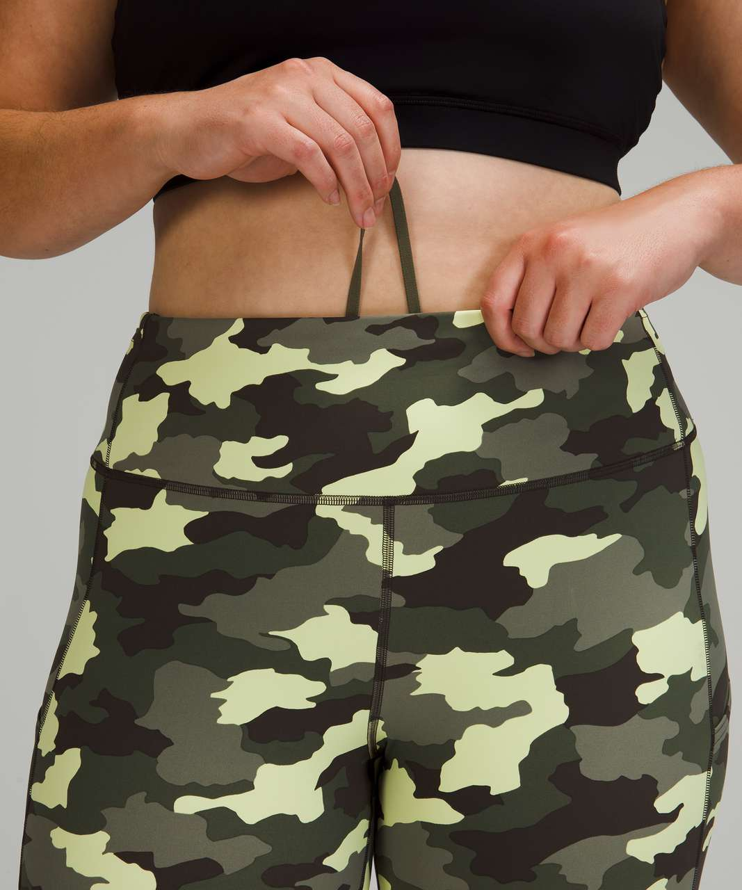 """Lululemon Fast and Free Tight 25"""" *Non-Reflective Nulux - Heritage 365 Camo Crispin Green Multi"""