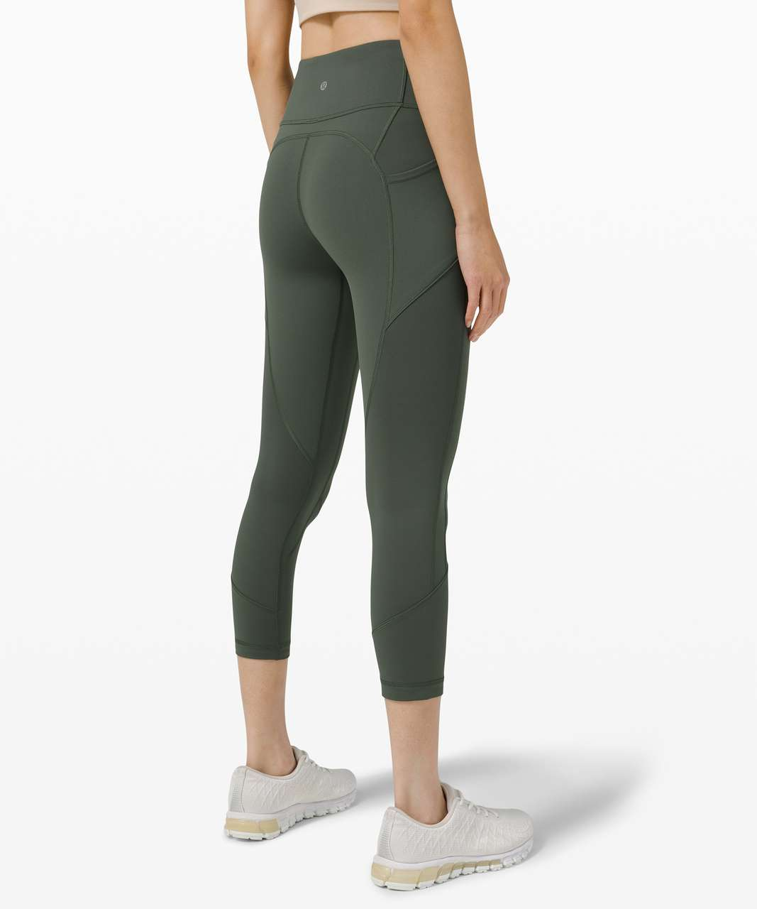 """Lululemon All The Right Places Crop *23"""" - Smoked Spruce"""