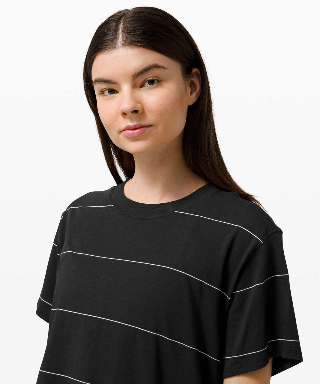 Lululemon All Yours Tee - Sup Stripe Black White