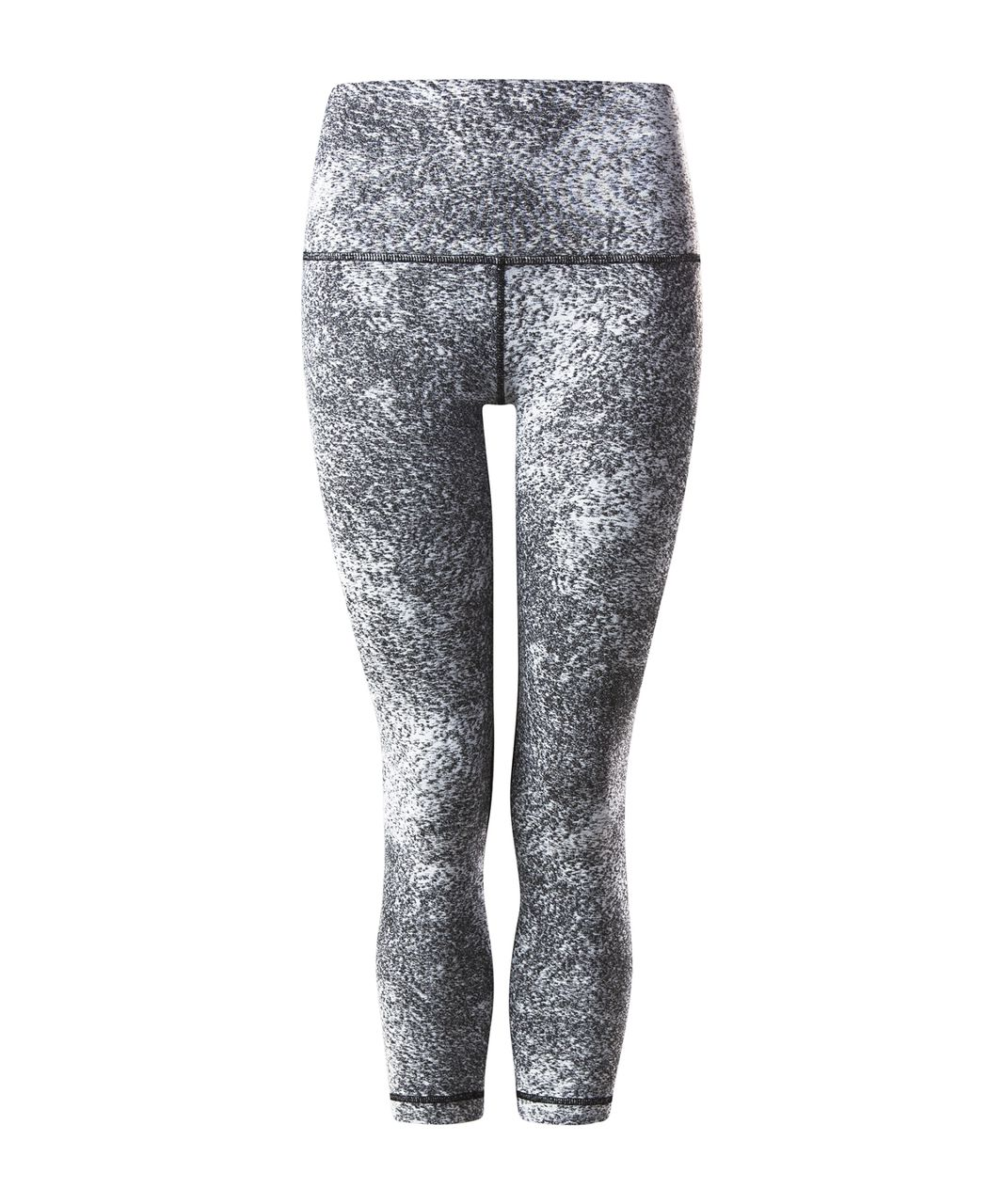 Lululemon Wunder Under Crop (Hi-Rise) - Luon Spray Jacquard White Black