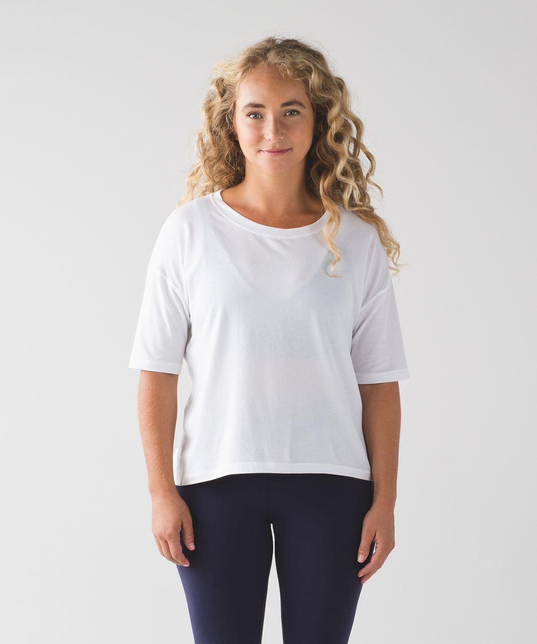 Lululemon Ambleside Crew Short Sleeve - White