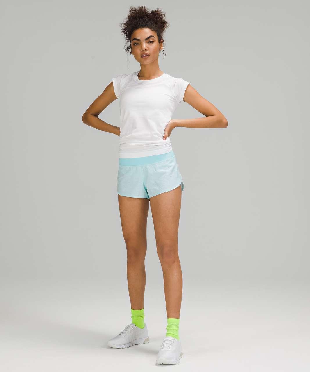 "Lululemon Speed Up Short *2.5"" - Heather Lux Multi Icing Blue / Icing Blue"