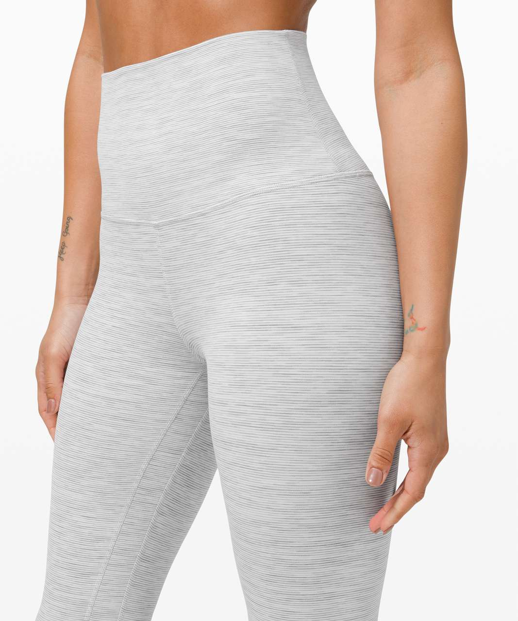 """Lululemon Align Super High-Rise Crop 21"""" - Wee Are From Space Nimbus Battleship"""