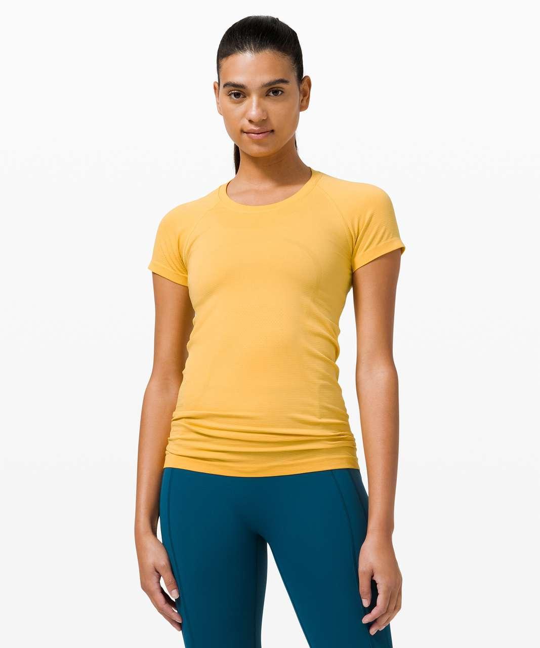 Lululemon Swiftly Tech Short Sleeve 2.0 - Wheat Yellow / Wheat Yellow