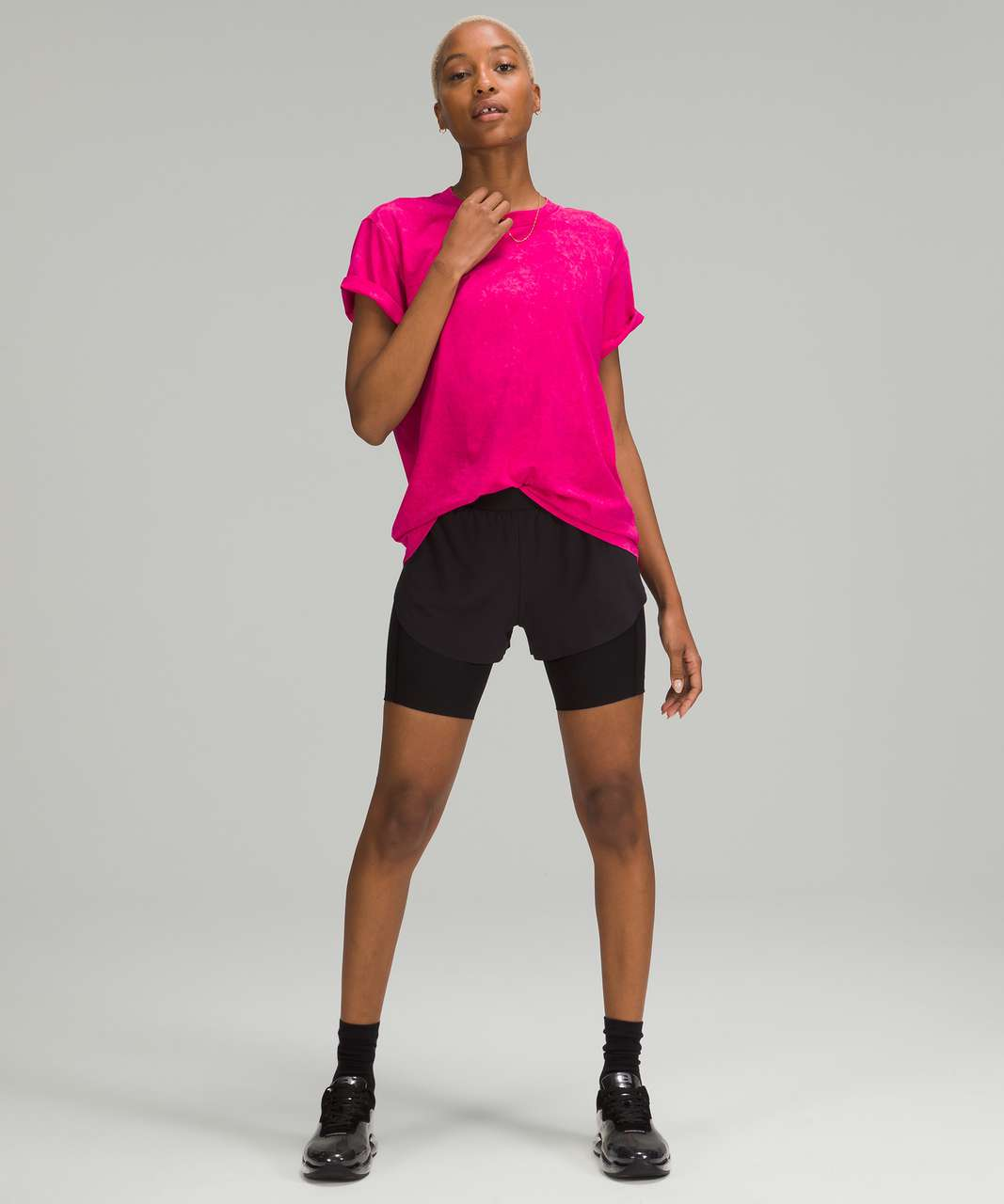 Lululemon All Yours Tee - Cloudy Wash Ripened Raspberry
