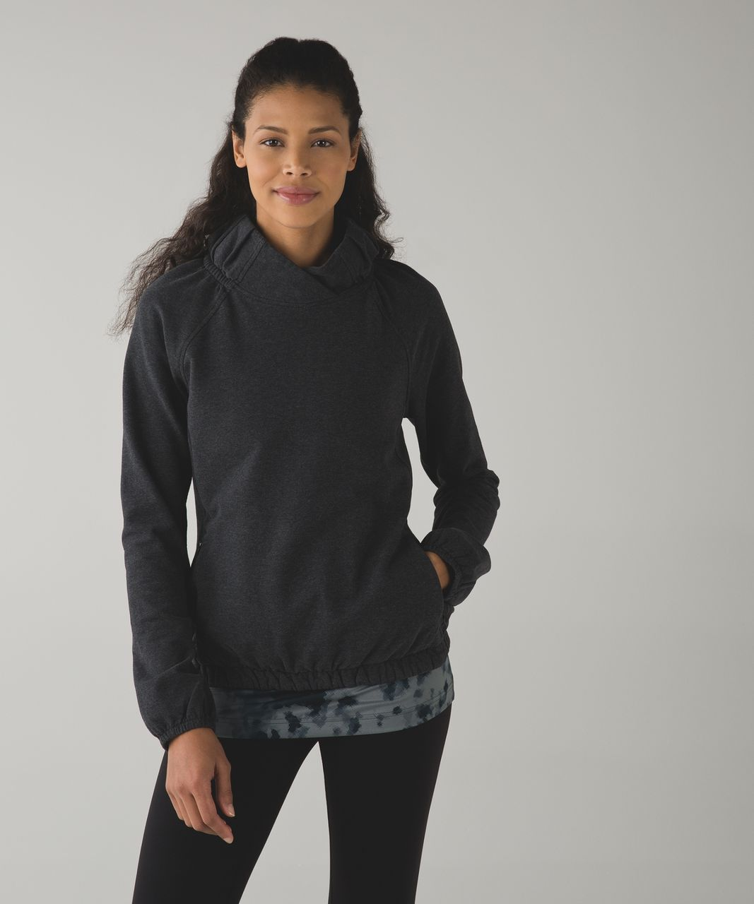 Lululemon After All Pullover - Heathered Black