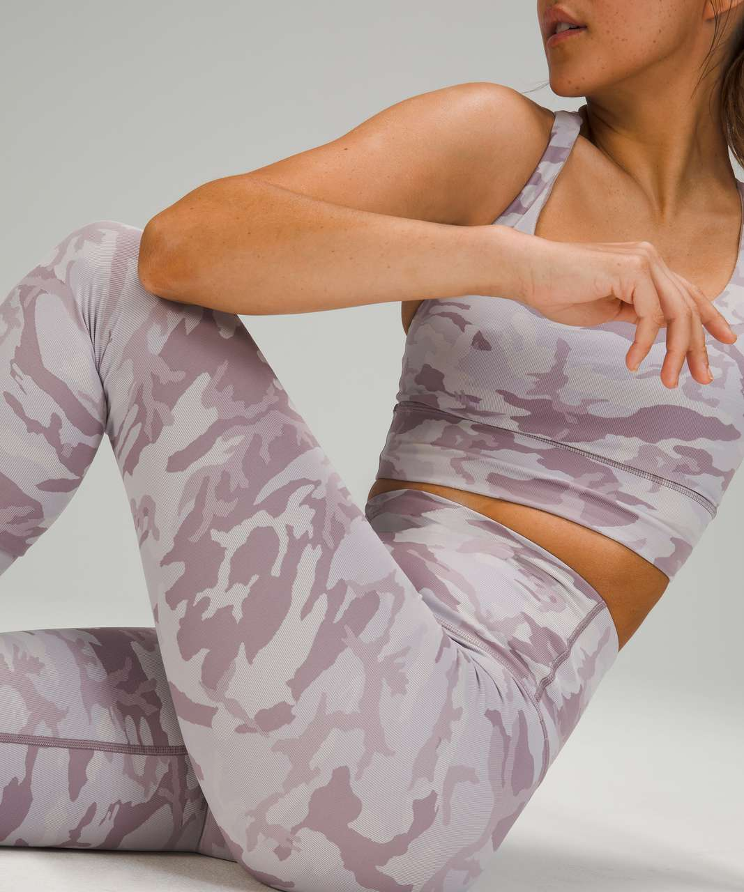 """Lululemon Wunder Under High-Rise Tight 25"""" *Luxtreme - Incognito Camo Jacquard Iced Iris Violet Verbana"""