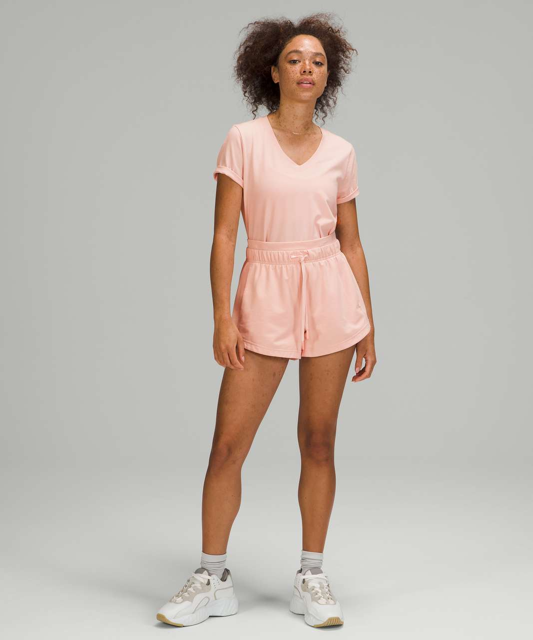 Lululemon Love Tee Short Sleeve V-Neck T-Shirt - Pink Mist