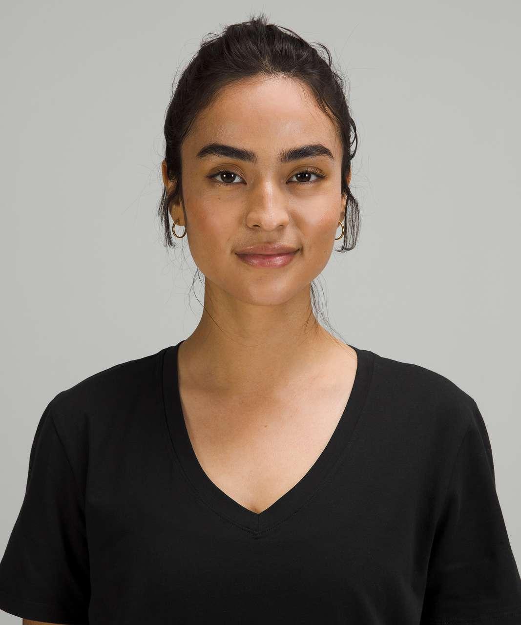Lululemon Love Tee Short Sleeve V-Neck T-Shirt - Black