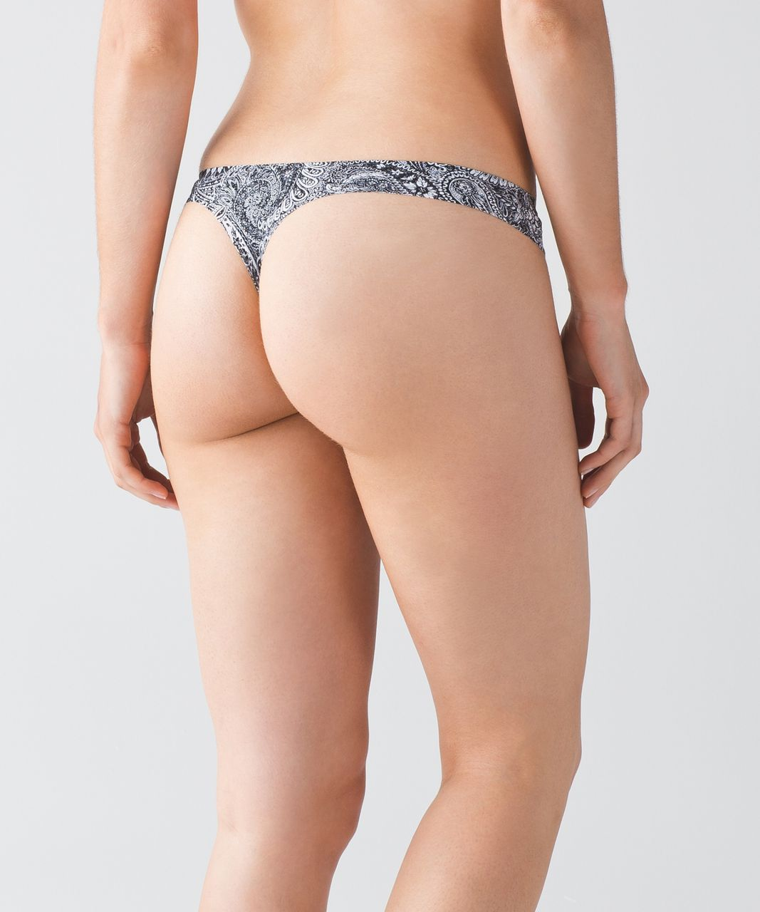Lululemon Namastay Put Thong - Mini Antique Paisley White Black