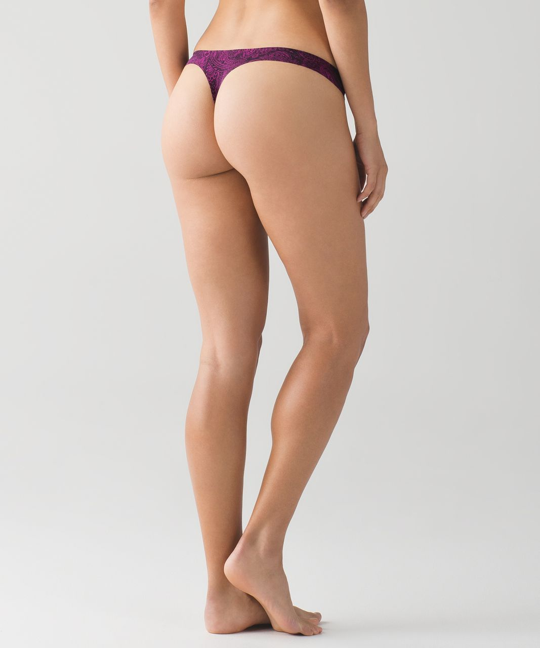 Lululemon Namastay Put Thong - Mini Antique Paisley Deep Fuschia Black