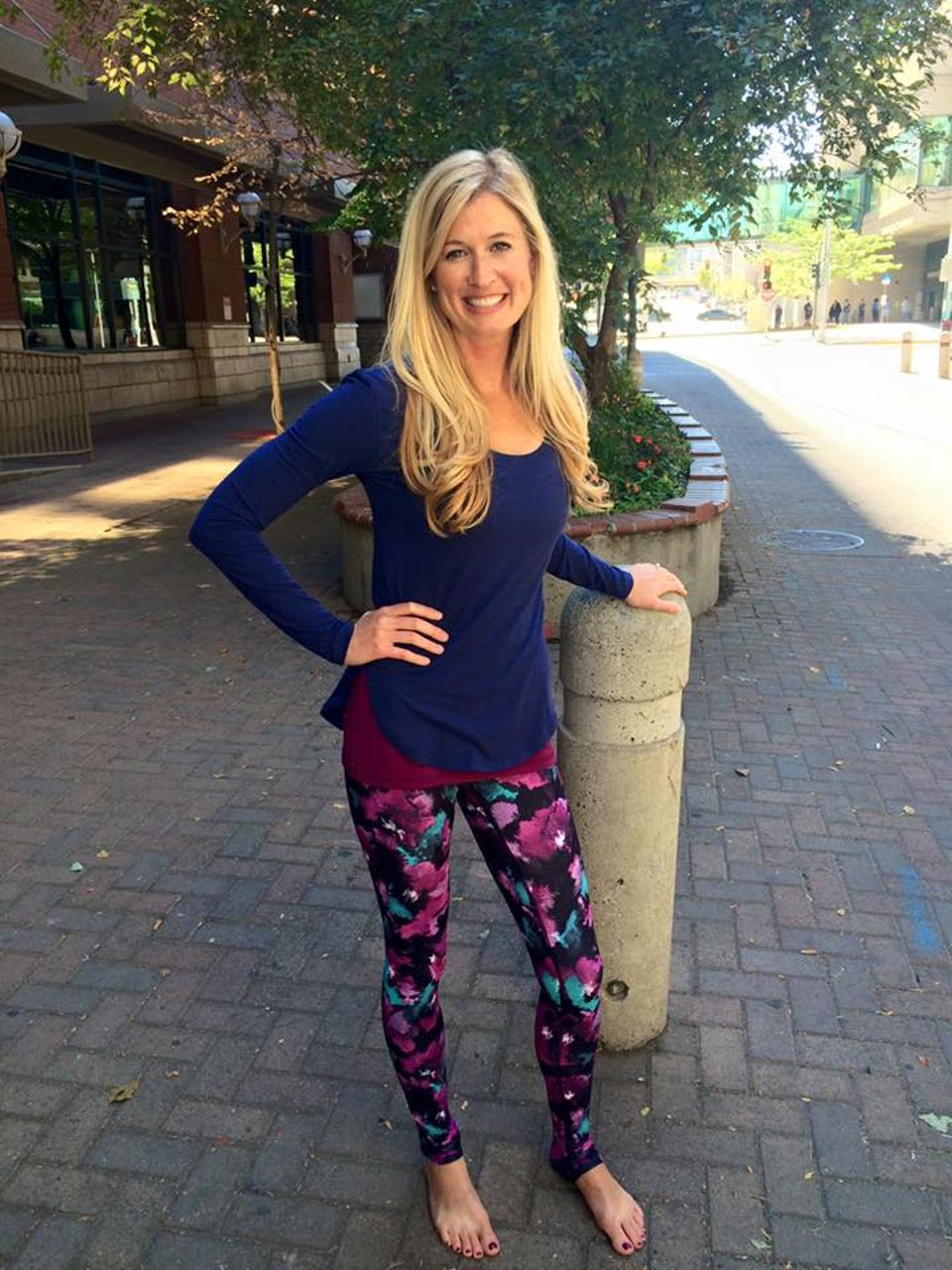 Lululemon Wunder Under Pant (Hi-Rise) - Midnight Bloom Black Deep Fuschia