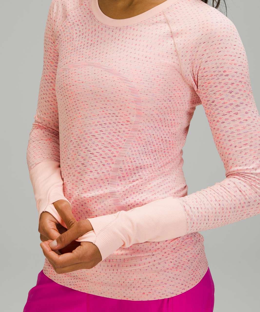 Lululemon Swiftly Tech Long Sleeve 2.0 - Grid Warp Pink Mist / Sonic Pink Multi