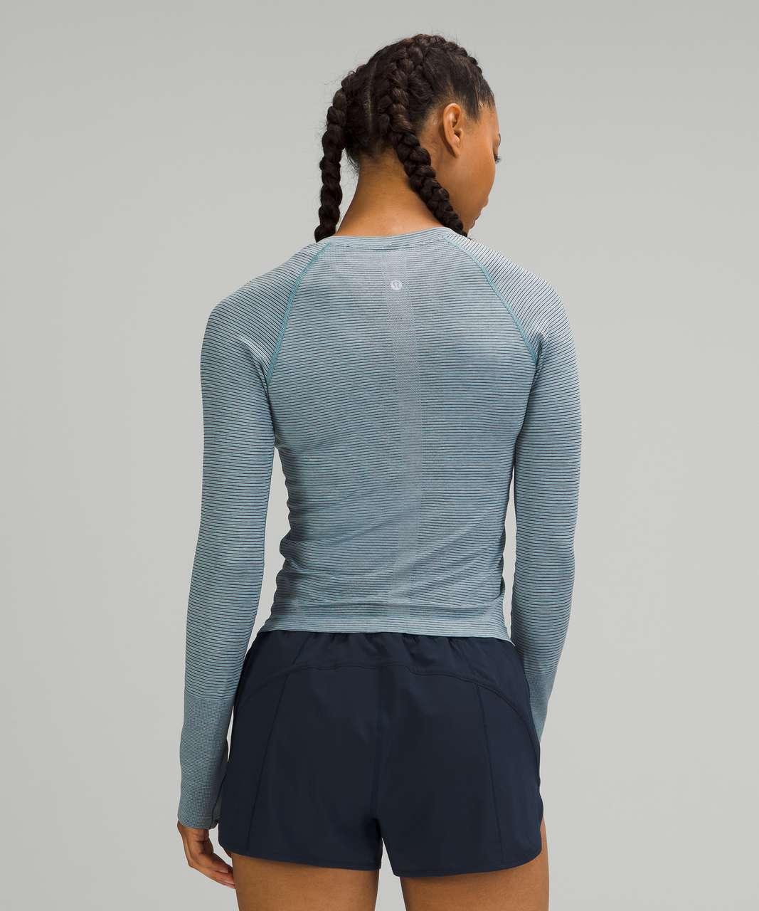 Lululemon Swiftly Tech Long Sleeve 2.0 *Race Length - Tetra Stripe Rhino Grey / Black / Icing Blue / Turquoise Tide