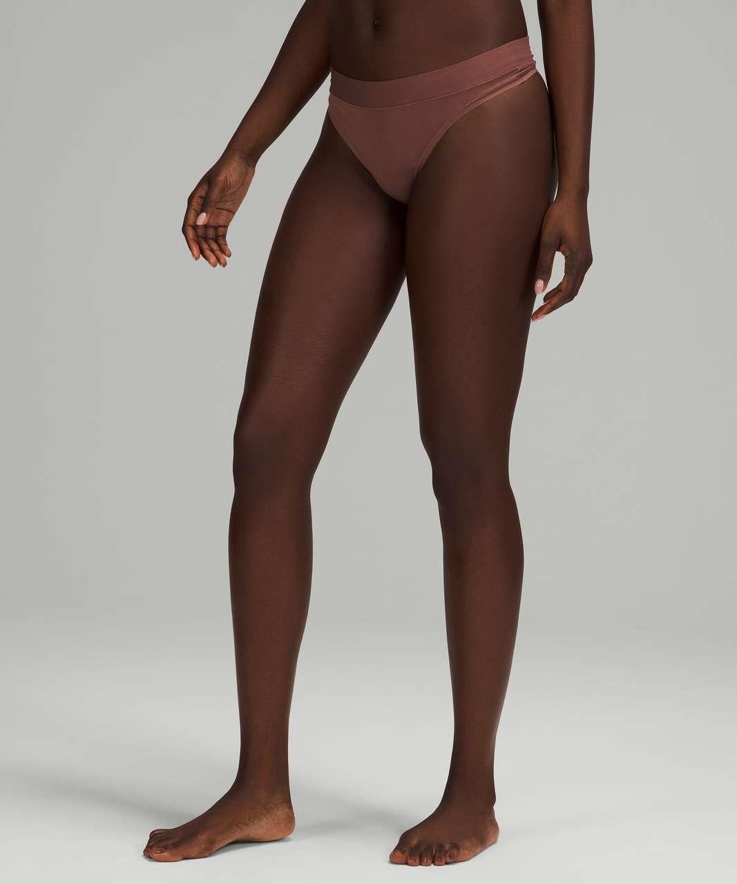 Lululemon UnderEase Mid-Rise Thong Underwear - Smoky Topaz