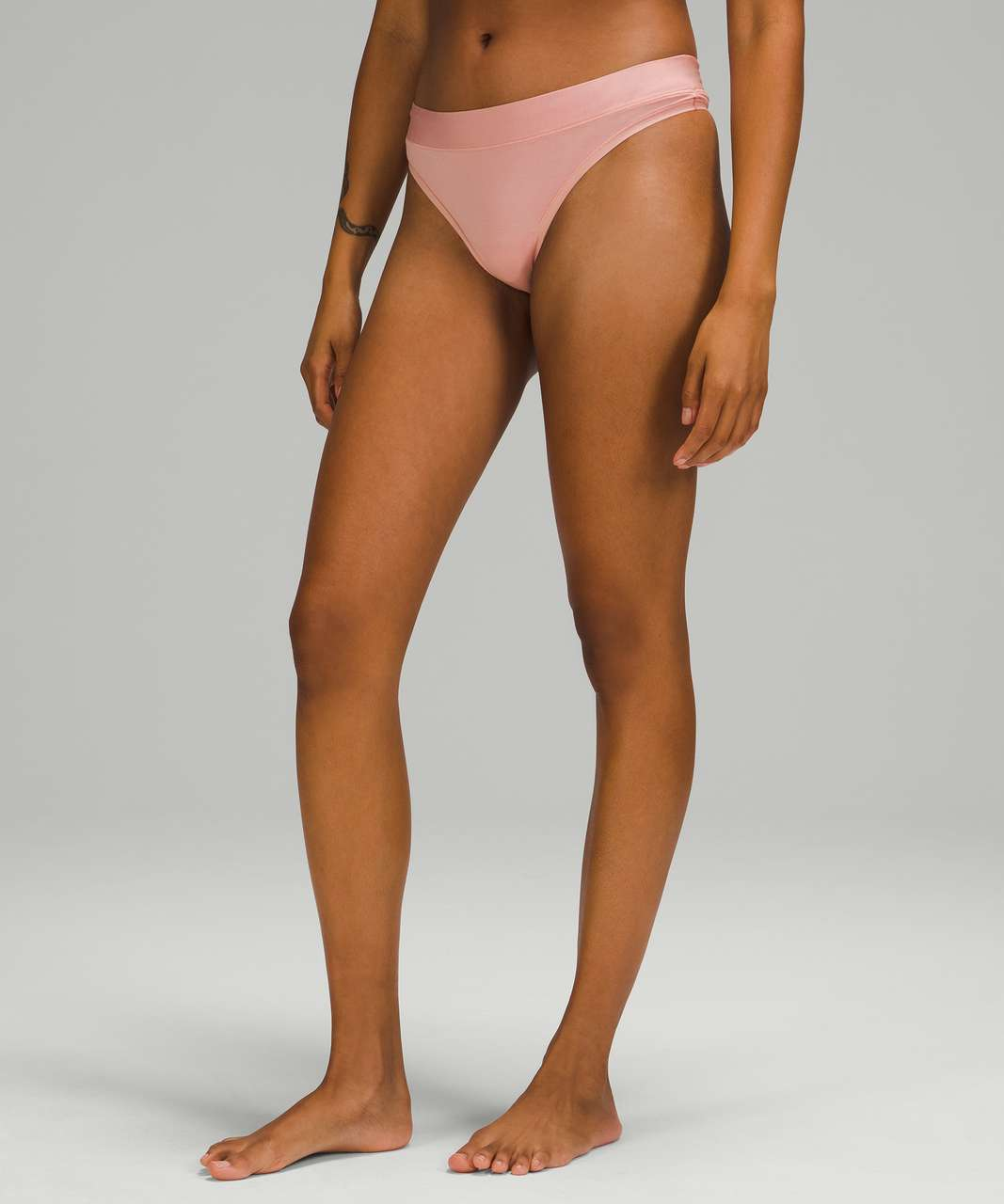Lululemon UnderEase Mid-Rise Thong Underwear - Pink Puff