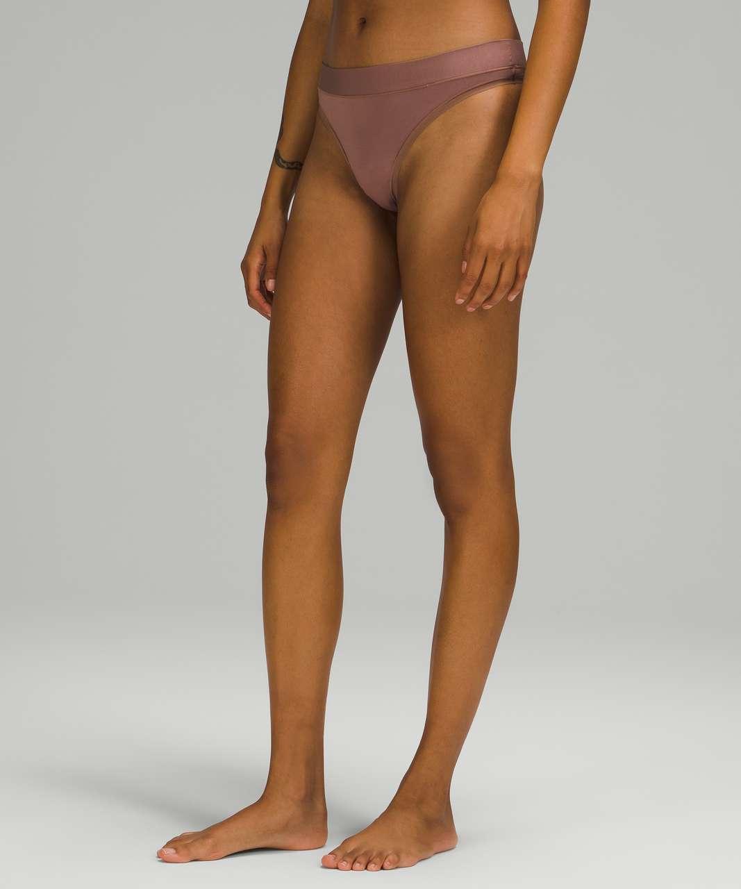 Lululemon UnderEase Mid-Rise Thong Underwear - Dusty Bronze