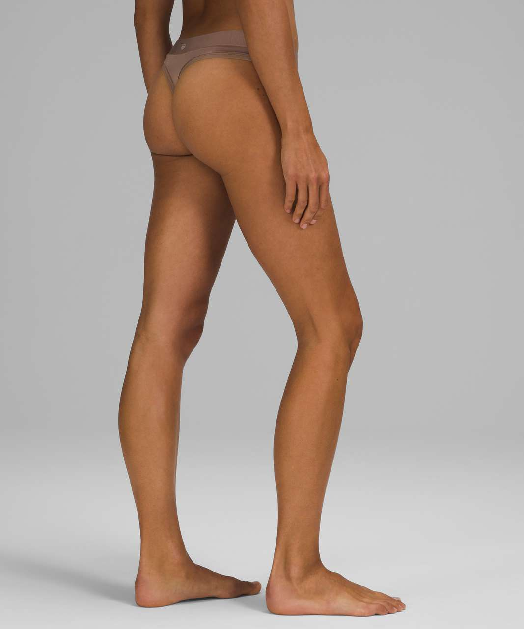 Lululemon UnderEase Mid-Rise Thong Underwear - Soft Sand