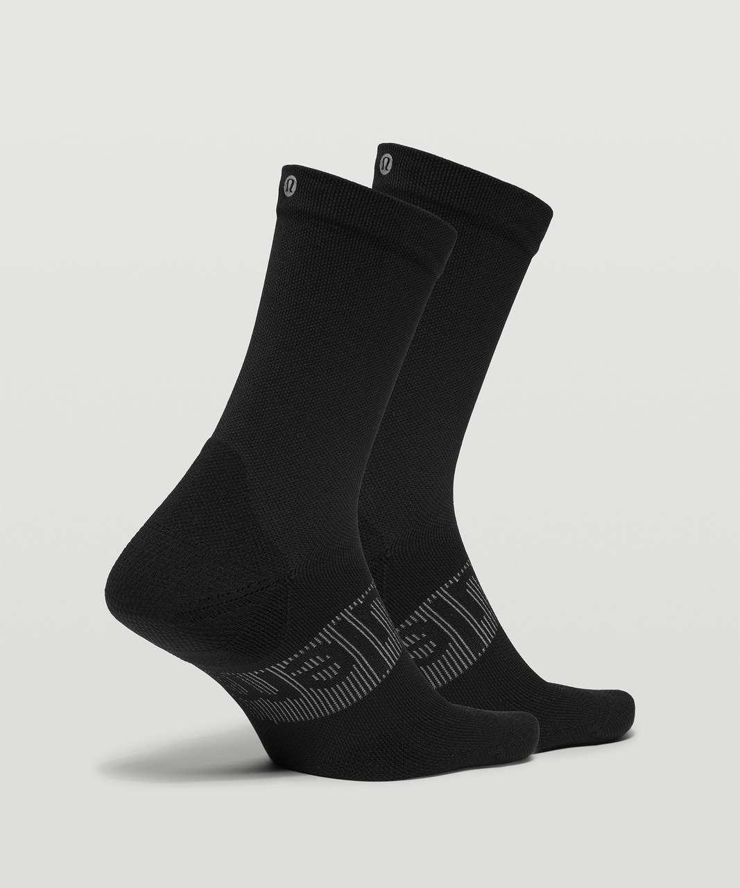 Lululemon Power Stride Crew Sock *2 Pack - Black