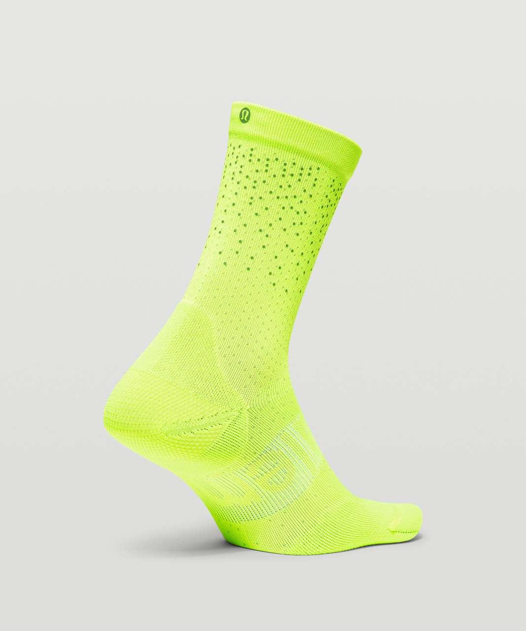 Lululemon Power Stride Crew Sock *Reflective - Highlight Yellow