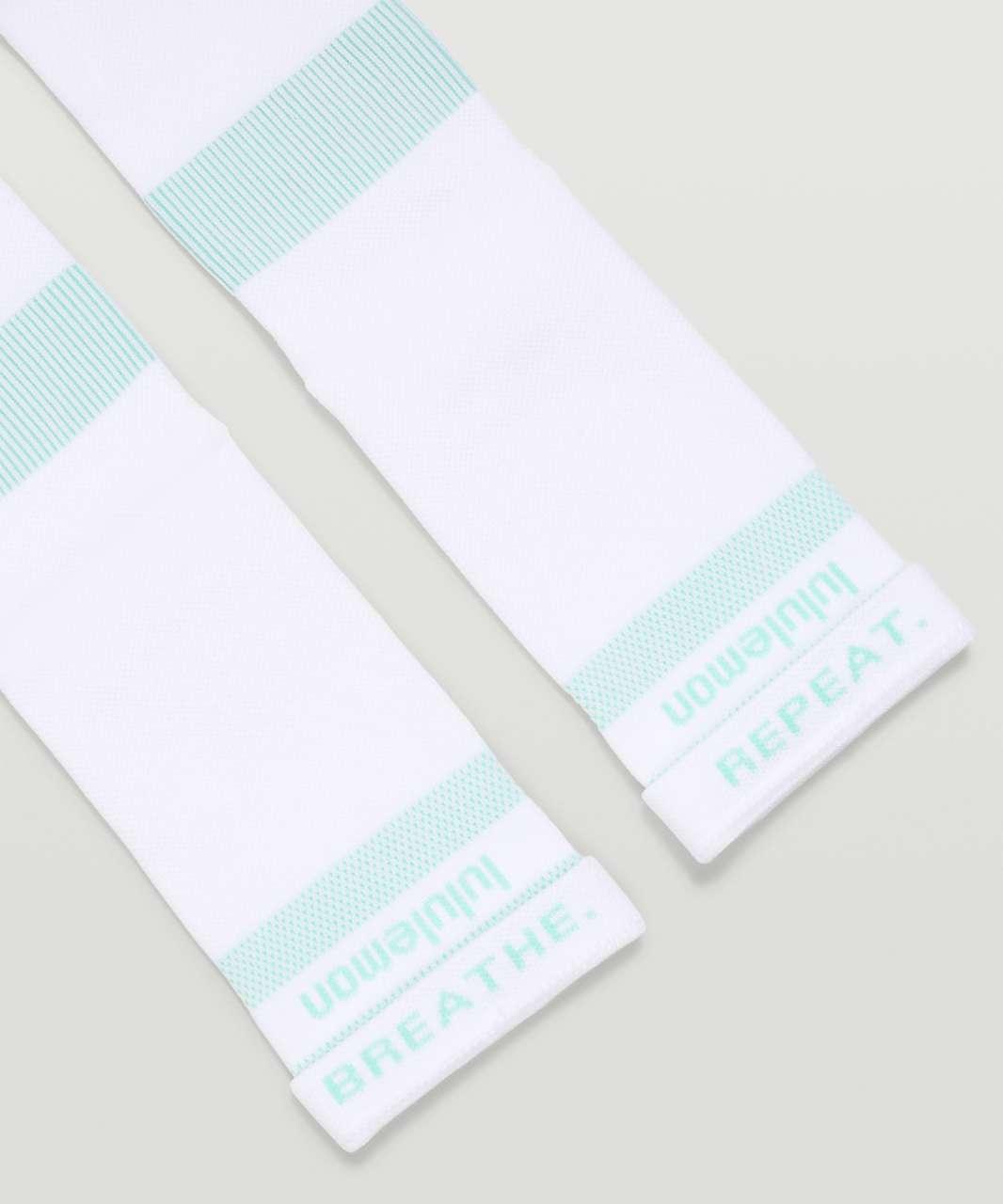 Lululemon Power Stride Crew Sock *Mantra - Wild Mint