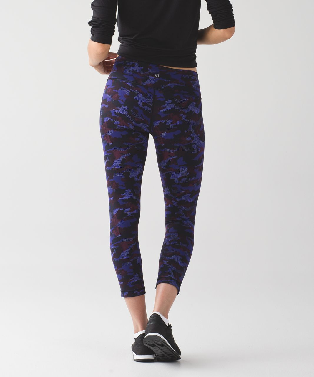 Lululemon Wunder Under Crop III - Hounds Camo Emperor Blue Black